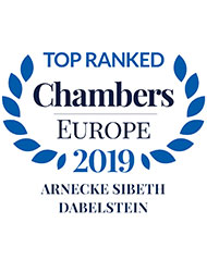 Top Ranked - Chambers Europe 2019