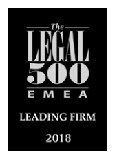 The Legal 500 Deutschland 2018 – Leading Firm