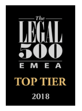 The Legal 500 Deutschland 2018 – Top Tier