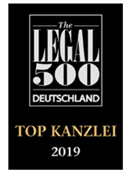 The Legal 500 Deutschland Top Kanzlei 2019