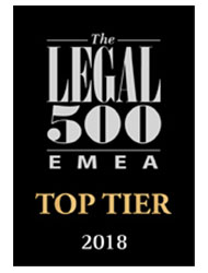The Legal 500 EMEA Top Tier 2018